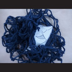 Dekorační síť - juta modrá, 1x1 m, oko 10 cm