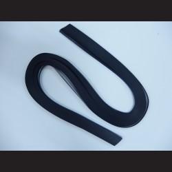 Papírové pásky - černé, 3mm x 53 cm, 100 ks