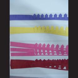 Papírové pásky - kytky, 12ks