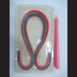 Papírové pásky - sada s háčkem, 3mm x 58 cm, 50 ks