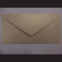 Obálka metalická zlatá - 22 x 11 cm, 10 ks