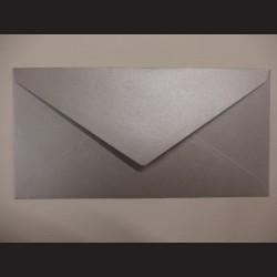 Obálka metalická stříbrná - 22 x 11 cm, 10 ks