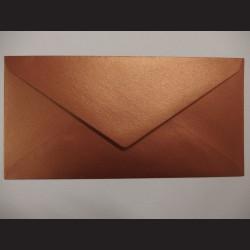Obálka měděná lesklá - 23 x 11cm, 10 ks