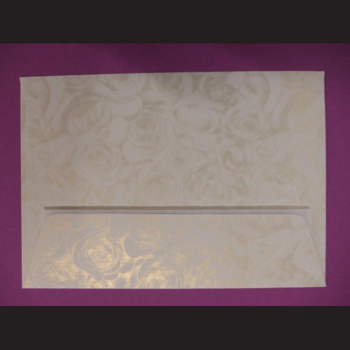 Obálka krémová se vzorem - 11,5 x 16 cm, 10 ks
