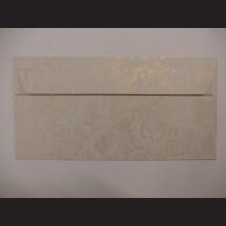 Obálka krémová se vzorem - 11 x 22 cm, 10 ks