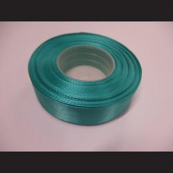 Stuha atlasová - modrozelená, 25 mm