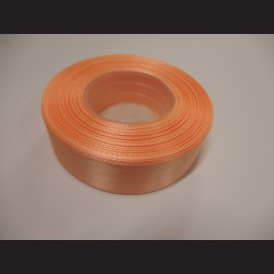 Stuha atlasová - ostře meruňková, 25 mm