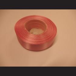 Stuha atlasová - starorůžová, 25 mm