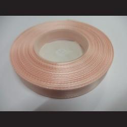 Stuha atlasová - světle růžová, 12 mm