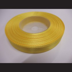Stuha atlasová - žlutá, 12 mm