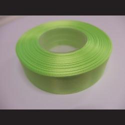 Stuha atlasová - neonově zelená, 25 mm