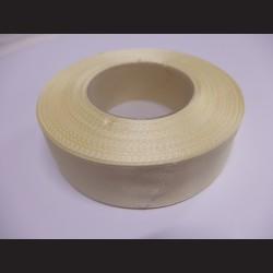 Stuha atlasová - vanilková, 25 mm