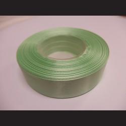 Stuha atlasová - mentolově zelená, 25 mm