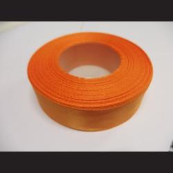 Stuha atlasová - světle oranžová, 25 mm