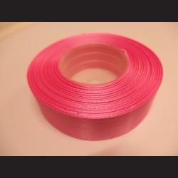 Stuha atlasová - růžová, 25 mm