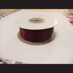 Stuha atlasová - vínová, 3 mm
