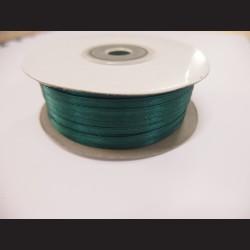 Stuha atlasová - tmavě zelená, 3 mm