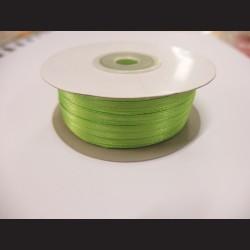 Stuha atlasová - jablkově zelená, 3 mm