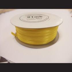 Stuha atlasová - žlutá, 3 mm
