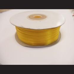 Stuha atlasová - tmavě žlutá, 3 mm