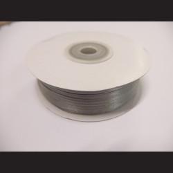 Stuha atlasová - světle šedá, 3 mm