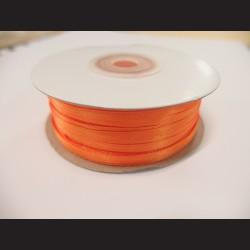 Stuha atlasová - oranžová, 3 mm