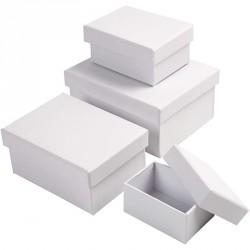 Bílá krabička - obdélník střední, cca 9,5x6,5x4cm