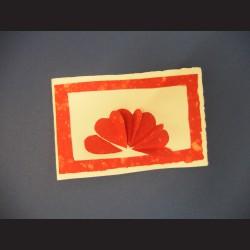 Přání - ruční papír - srdíčka