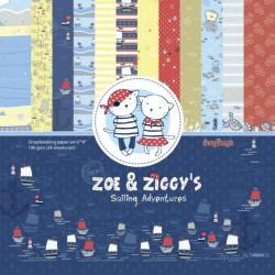 Scrapbooková sada - Zoe & Ziggi's Sailing Adventures, 15x15