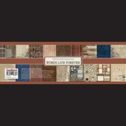 Scrapbooková sada - Words Live Forever, 30,5 x 30,5