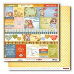 Papír na scrapbook - Sweetheart, 30,5 x 30,5