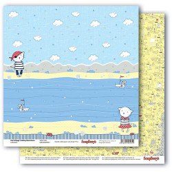 Papír na scrapbook -  Zoe & Ziggy's Sailing Adventures, Sailor Cats, 30,5 x 30,5