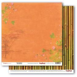 Papír na scrapbook - Tropics - Eucalyptus, 30,5 x 30,5