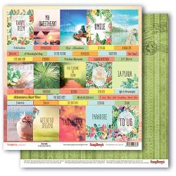 Papír na scrapbook - Tropics - Cards, 30,5 x 30,5