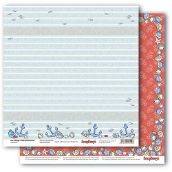 Papír na scrapbook - Zoe & Ziggy's Sailing Adventures, Anchors & Seashells, 30,5 x 30,5