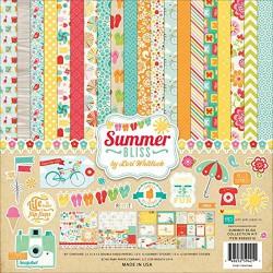 Scrapbooková sada se samolepkami - Summer Bliss, 30,5 x 30,5 cm