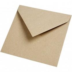 Obálky čtvercové - recyklované, 25 ks
