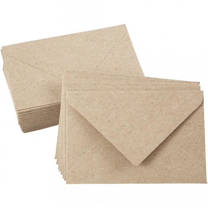 Obálky - recyklované, 50 ks