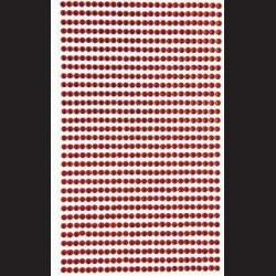 Krystaly samolepící - červená - 3mm, 806 ks
