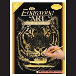 Škrabací obrázek s tygrem
