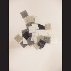 Mozaikové skleněné kamínky - moon-light mix, 20x20 mm, 200 g