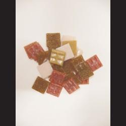 Mozaikové skleněné kamínky - terra mix, 20x20 mm, 200 g