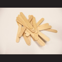 Dřevěné špachtle - 1,7 x 15 cm, 50 ks