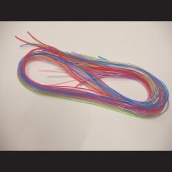 Bužírky na pletení - barevné, 1m x 30ks