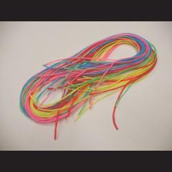 Bužírky na pletení - neon, 1m x 25 ks