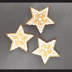 Perníková hvězda filc 5cm