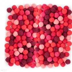 Bambule malé červená