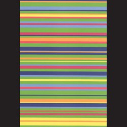 Fotokarton  A4 pruhy barevné vodorovné, tvrdý karton 300g vhodný na výrobu přání, tvoření s dětmi, scrapbook a další tvoření