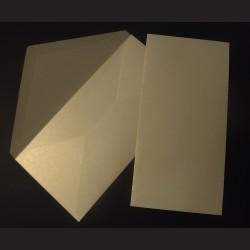 Obálky perleťové, 22 x 11 cm - béžové, 10 ks