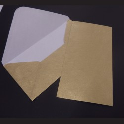 Obálky s ražbou, 22 x 11 cm - zlaté, 10 ks